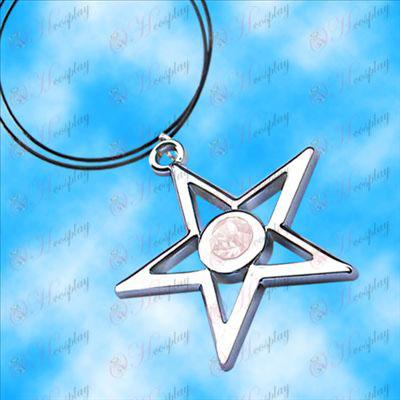 Brist Rock Shooter Tillbehör pentagram halsband (vit)