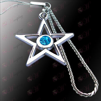 Lack Rock Shooter Accessories pentagram machine chain (blue)