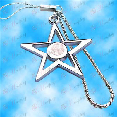 Lack Rock Shooter Accessories pentagram machine chain (white)