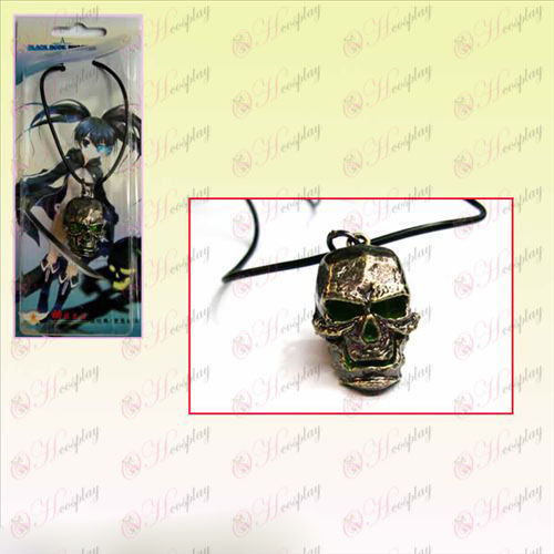 Липса Rock Shooter AccessoriesBleach Аксесоари Skull Колие кожа кабел