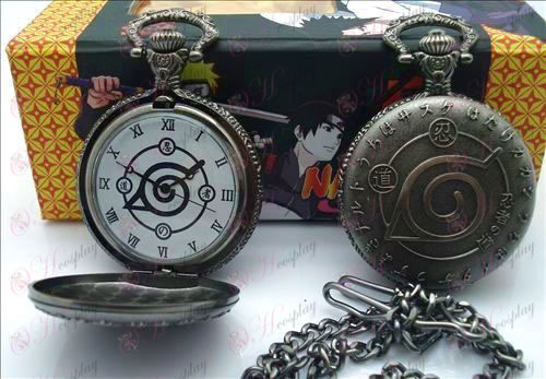 Naruto flag pocket watch + Cards