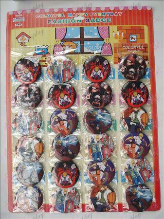 Naruto brooch (24 / plate)