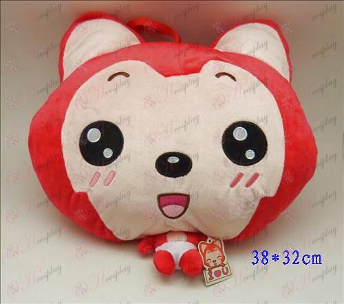 2 # Ali Acessórios Plush Shou Wu (olhos redondos e vermelhos)