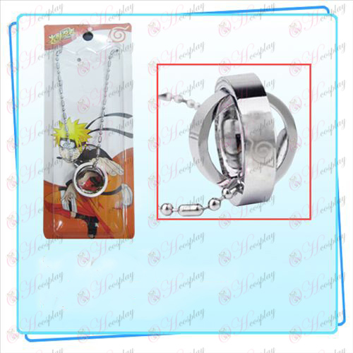 Naruto лого Коноха двойно колие пръстен (карта)