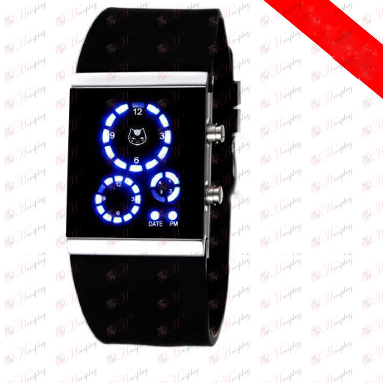 Natsume's Book of Friends Accessories Korean version of the black cat teacher signs LED Watch