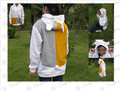 Natsume teacher squinting cat sweater white