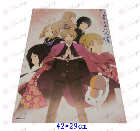 42 * 29cmNatsume's Book of Friends Accessories embossed posters (8)