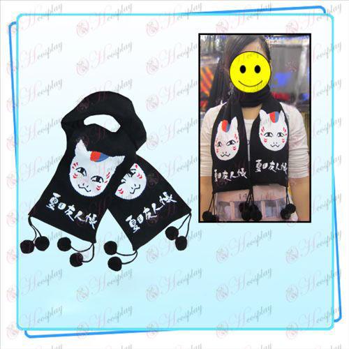 Natsume cat teacher jacquard scarf