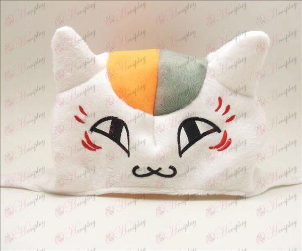Natsume: s bok Vänner Tillbehör lärare plysch katt hatt