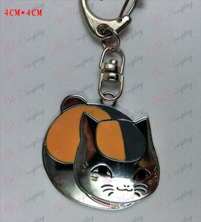 Natsume: s bok Vänner Tillbehör-Pet Cat Keychain