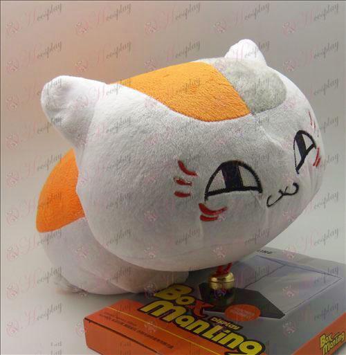 Book Natsume от приятели Аксесоари голяма бяла котка лежи плюшена кукла (40 сантиметър