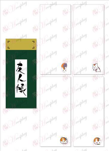 Book Natsume от приятели аксесоари Long Scratch Pad 024