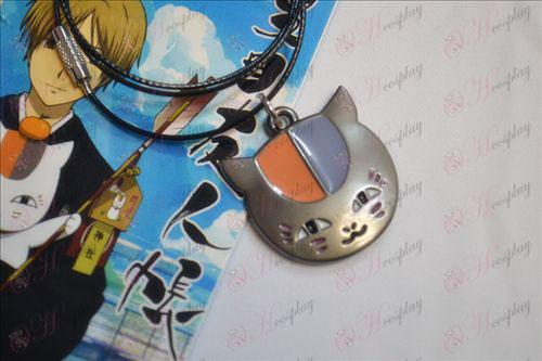 Le Livre des Amis accessoires chouette collier noir de Natsume