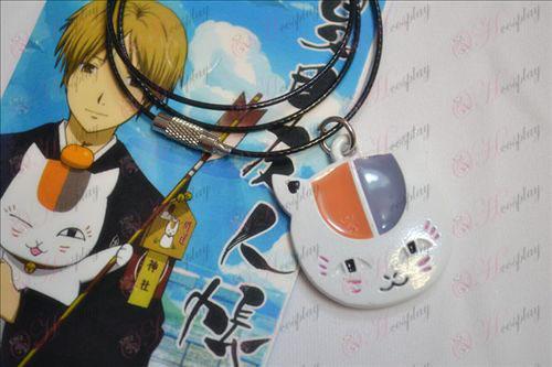 Le livre de Natsume des Amis accessoires chouette collier blanc