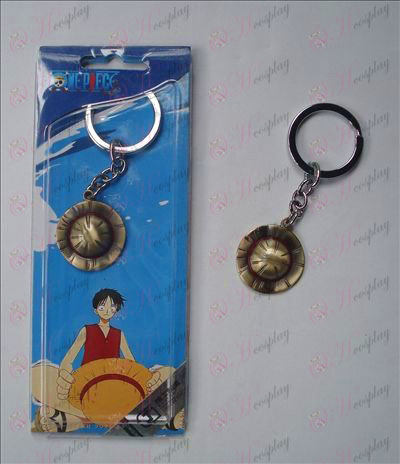 One Piece Luffy chapéu chaveiro