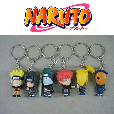 A12 geração 6 Naruto boneca chaveiro