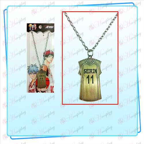Sunspot basketball jersey No. 11 Necklace (bronze)