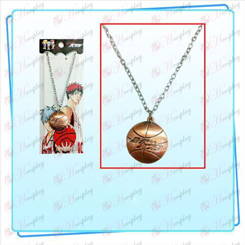 Sunspot basketball necklace (red bronze)