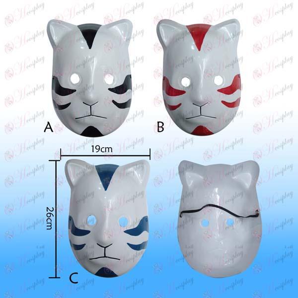 Kolmen värin kissa naamio tumma Naruto (valinnainen)