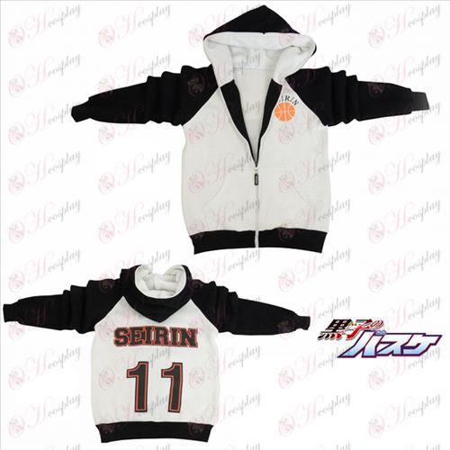 kuroko's Basketball Accessories logo fork sleeve zipper hoodie sweater