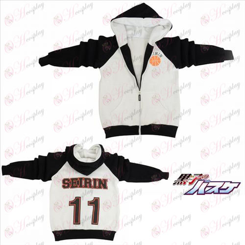 kuroko Basketball Tilbehør logo gaffel sleeve lynlås hoodie trøje