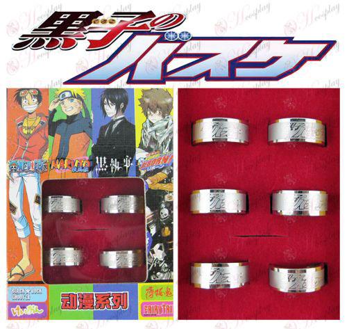 di Kuroko Basketball Accessori Frosted Ring (6 / set)