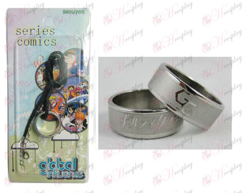 Guilty Crown Accesorios Frosted Anillo Collar - Cuerda