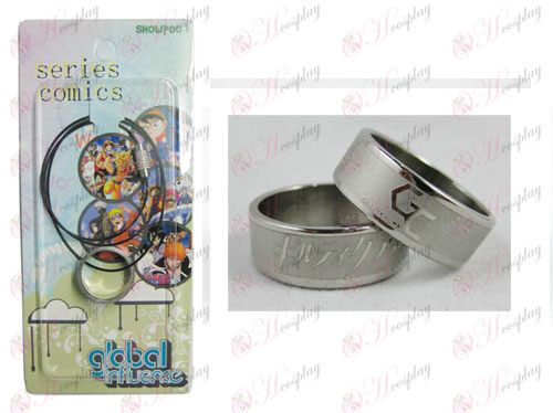 Guilty Crown Accessori Frosted Anello Collana - Rope