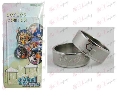 Guilty Crown Accessori Frosted Anello carta installato