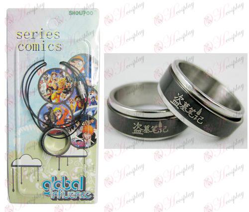 טבעת Daomu אבזרים שחורה פלדת טרנספורטר - פלדה