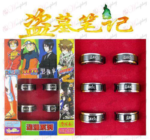 Daomu Аксесоари черна стомана въртящия се пръстен (6 / комплект)