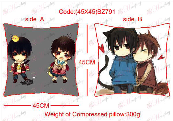(45X45) BZ791-Daomu Accessories Anime sided square pillow