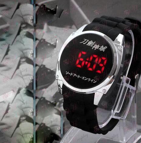 Sword Art prihlásený Príslušenstvo logo LED dotykový displej hodinky