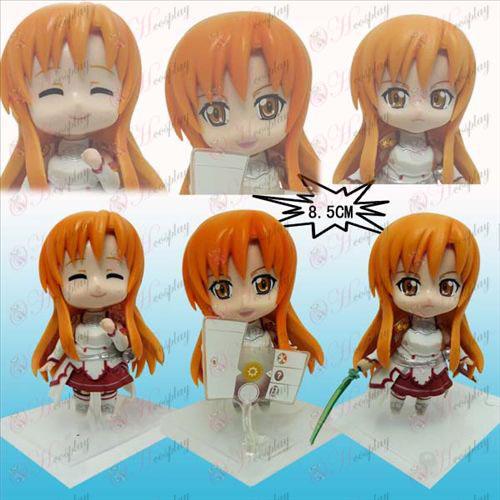 3 Espada de Arte em linha Acessórios Asuna placa branca boneca