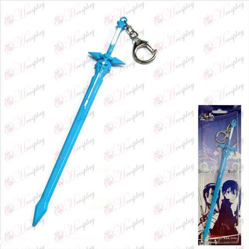 Sword Art prihlásený Doplnky podľa Kazuto Dark biely meč visí prackou