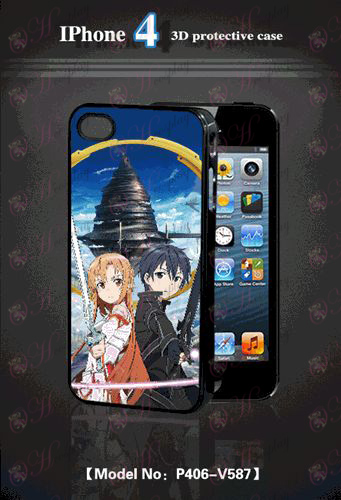 3D-s mobiltelefon shell Apple 4-Sword Art Online tartozékok