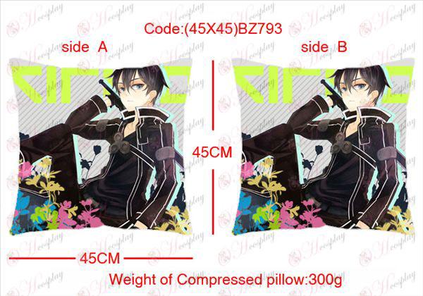 (45x45) BZ793-Sword Art Online Аксесоари Anime едностранно квадратен възглавницата