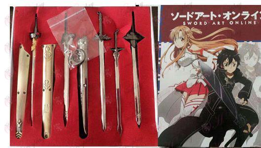 Espada de Arte Online Kit Acessórios armas