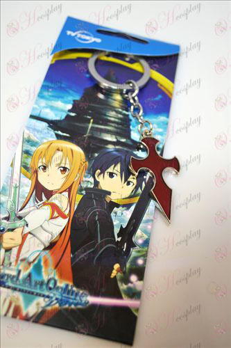 Sword Art Online Accessories Cross Keychain (Red)
