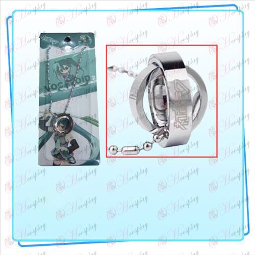 Hatsune double ring necklace (card)