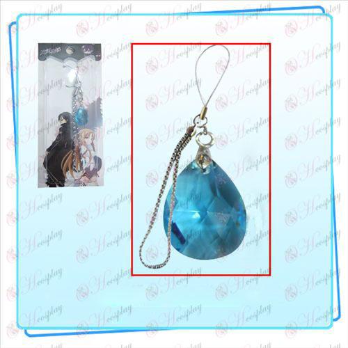 Sword Онлайн изкуство допълнения към облеклото Kazuto Asuna телефонни възела на сърцето (синьо