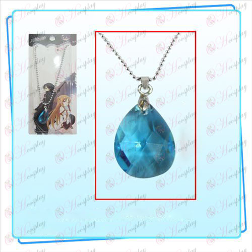 חרב אמנות מקוונת אבזרים Kazuto Asuna קשר לב שרשרת (כחול