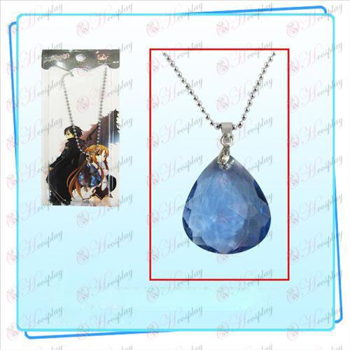 Svärd Art Online Tillbehör Kazuto Asuna Yui hjärta blått halsband