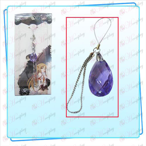 Sword Онлайн изкуство допълнения към облеклото Kazuto Asuna телефонни възела на сърцето (лилаво