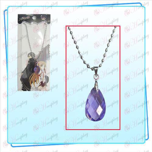 Schwert Art Online Zubehör Kazuto Asuna Yui Herz Halskette (lila