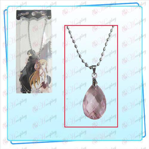 Svärd Art Online Tillbehör Kazuto Asuna Yui hjärta halsband (rosa