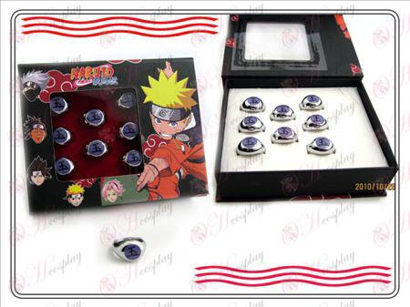 Naruto Xiao Organization boxed (Yu) Word Ring