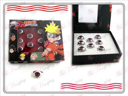 Naruto Xiao Organizácia krabicu (čierna) Word krúžok