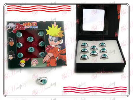 Naruto Xiao Organization boxed (blue) words ring Halloween Accessories Online Store