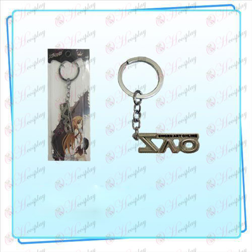 Sword Art Online AccessoriesSAO flag key ring (pearl nickel color).
